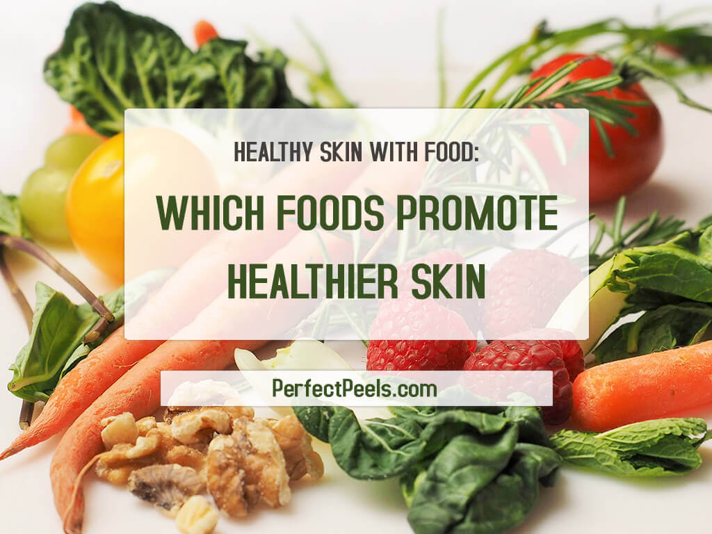 healthy skin with food