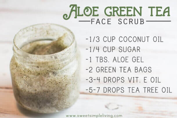 Aloe Green Tea Face Scrub
