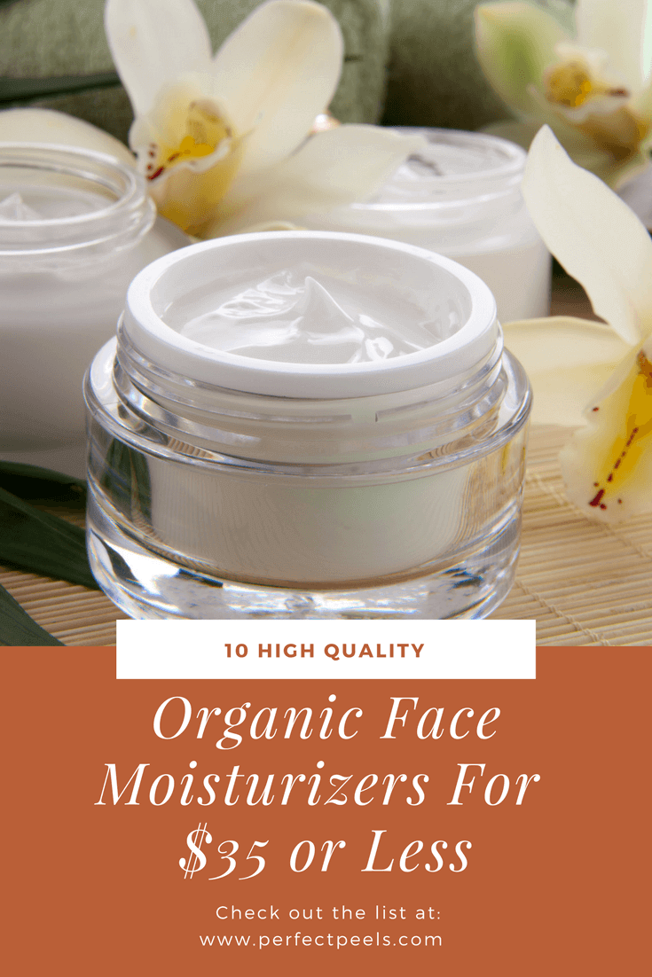 Organic face moisturizers don't have to be expensive. Check out these 10 good-for-you moisturizers, all priced under $35, and are made with botanical blends, vitamins, and exclusive oils.