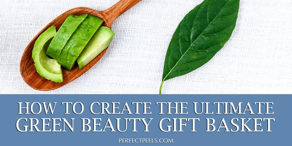 green beauty gift basket