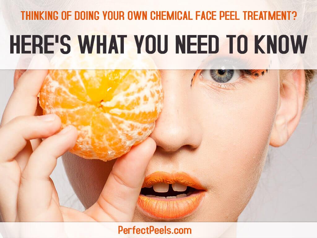 chemical face peel treatment