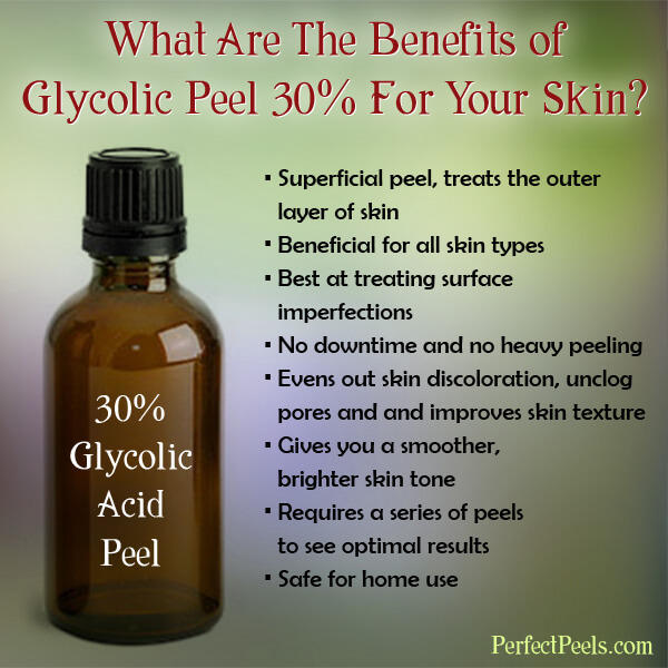 benefits of glycolic peel 30%
