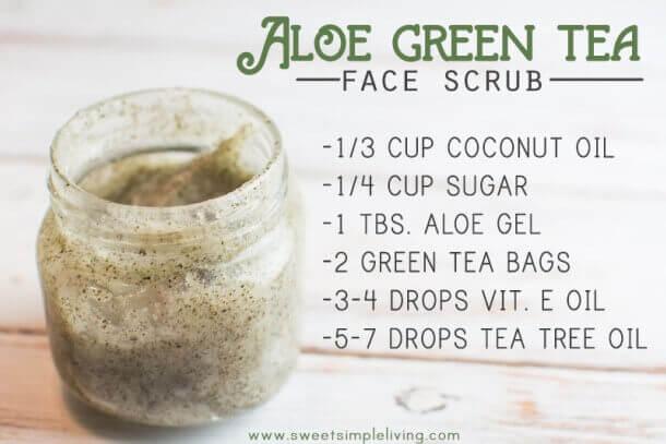 Aloe Green Tea Face Scrub