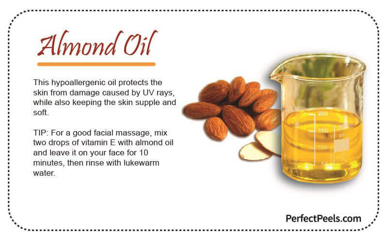 almond oil for natural skin care
