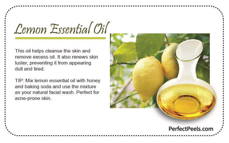 lemon essential oil for natural skin care